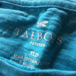 Talbots Tops - Talbots Blue Sleeveless Shirt w/Buttons Shoulder